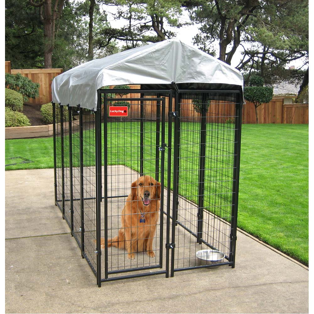 Uptown welded wire box kennel 6h x 4w x 8l spots for Costco dog house