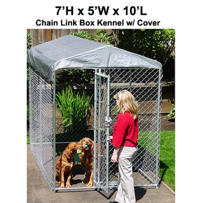 Lucky Dog Yard Guard Box Kennel w/ Cover - 7 x 5 x 10