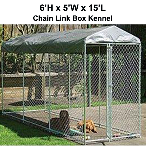 Heavy Duty 2 In 1 Chain Link Dog Kennel Enclosure 6 H X