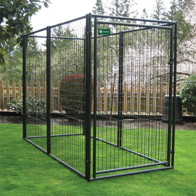 Pro Breeder AKC Approved Black Powder Coated Welded Wire Modular Dog Kennel - 6 ft High