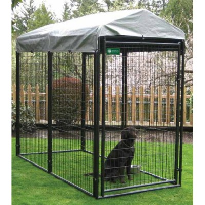 Pro Breeder AKC Black Welded Wire Panel Professional Modular Dog Kennel Kit