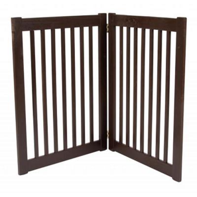 Two Panel EZ Pet Gate Mahogany - Large