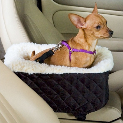 Console Lookout Dog Car Seat- Black