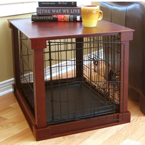 Dog Crate With Wooden Cover Spots Dog Kennel