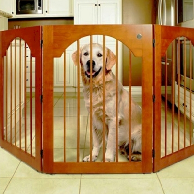 Majestic Pet Free Standing Wood Pet Gate