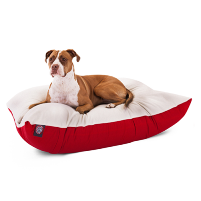 Majestic Pet Rectangular Pillow Dog Bed Red